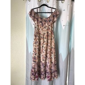 Altar'd State Off-the-shoulder Maxi Dress (sz M)